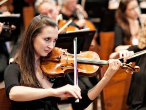 Concertmaster Rebecca Corruccini