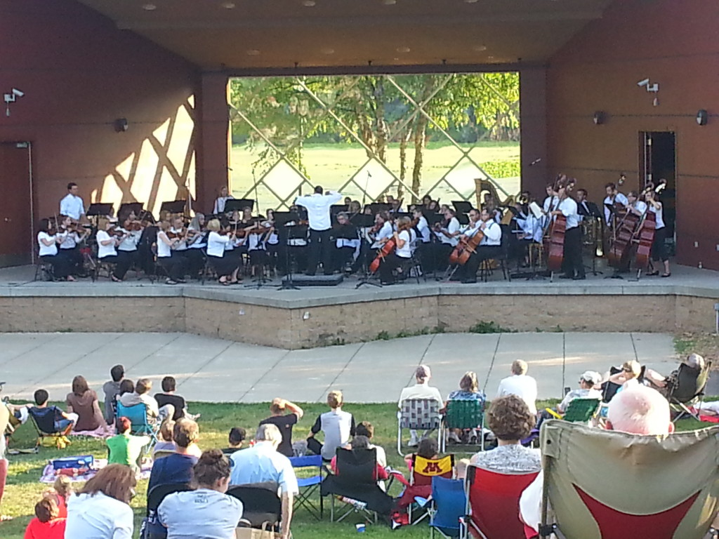 Bloomington Symphony onstage at the Normandale Lake Bandshell