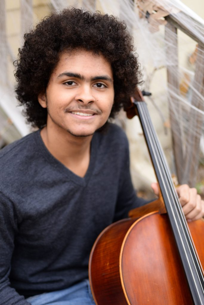 Nygel Witherspoon with his cello