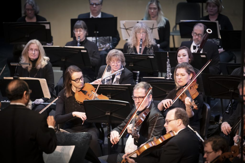 Viola Flute and Clarinets of the Bloomington Symphony Orchestra play