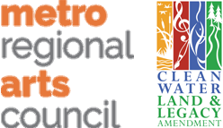 Color logo for the Metropolitan Regional Arts Council with color logo for the Clean Water Land and Legacy Amendment